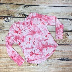 Pink Rose long sleeve tye dye top